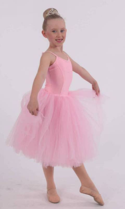 Pink nylon lycra and soft tulle