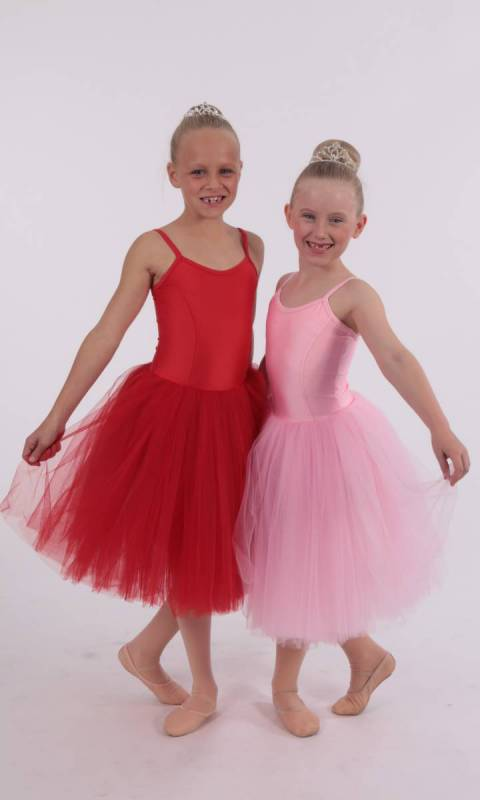 ROMANTIC TUTU - Red Lycra and red soft tulle