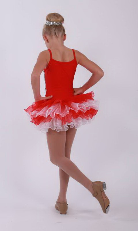 TAPPY TOES  - Red with white and silver