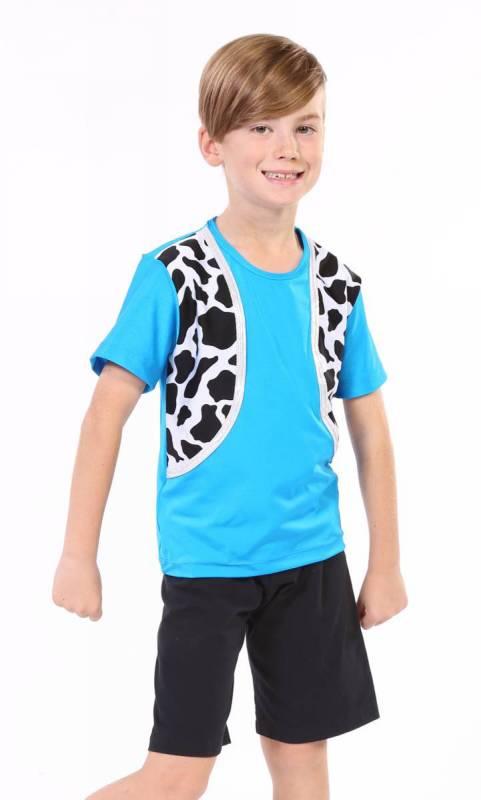 Bootschootin Boys - Aqua and Cow print