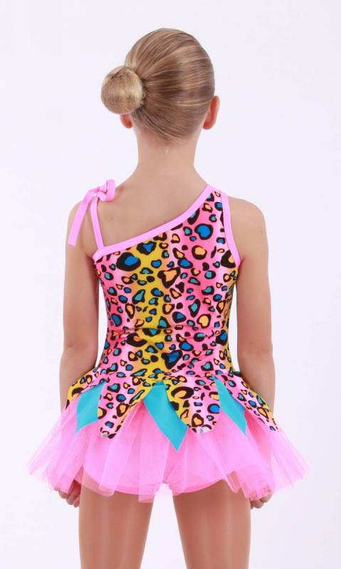 PEBBLES  - Pink Leopard print and pink tulle  and shorts