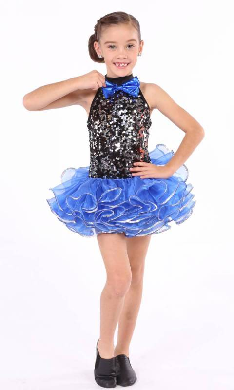 Entertainer  - ROYAL BLUE with black and silver sequin