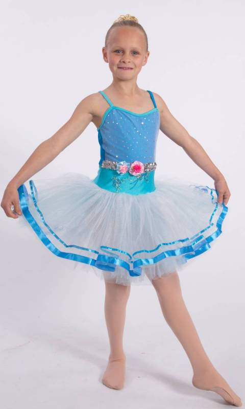 FAIR ELISE - Soft tutu - Blue and White