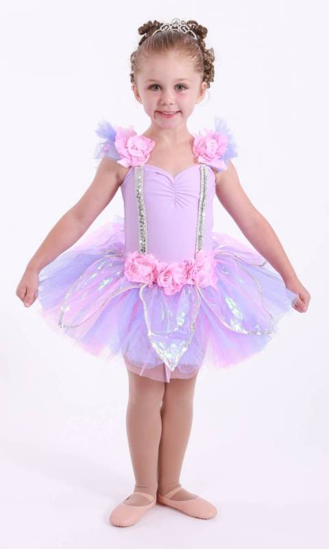 SUGAR PLUM TUTU  - Lilac and Pink with silver sequins
