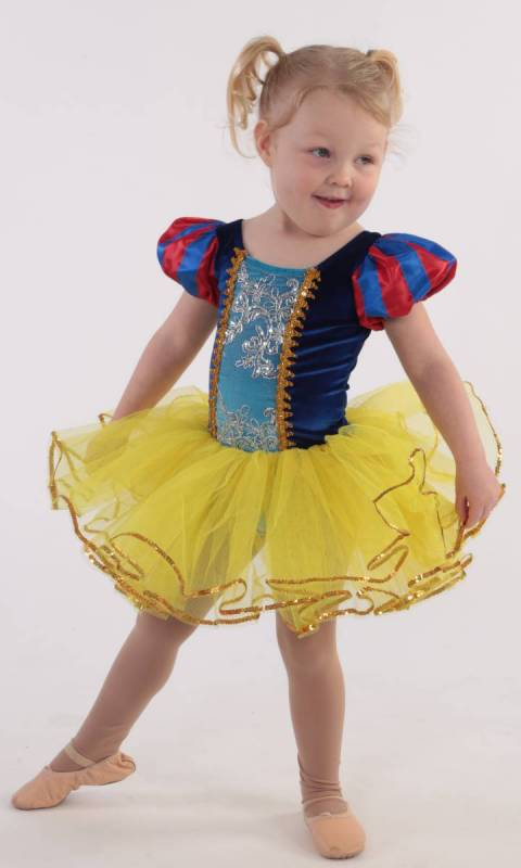 SNOW WHITE TUTU  - Yellow blue and red