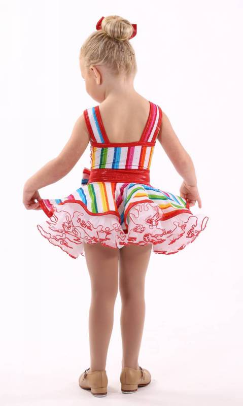 I WANT CANDY - KCDC  - Candy Stripe + Red Shatt + White nylon + white tulle