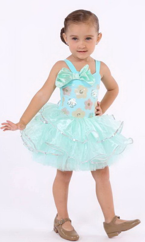 BEAUTIFUL  DOLL - Aqua - small bow
