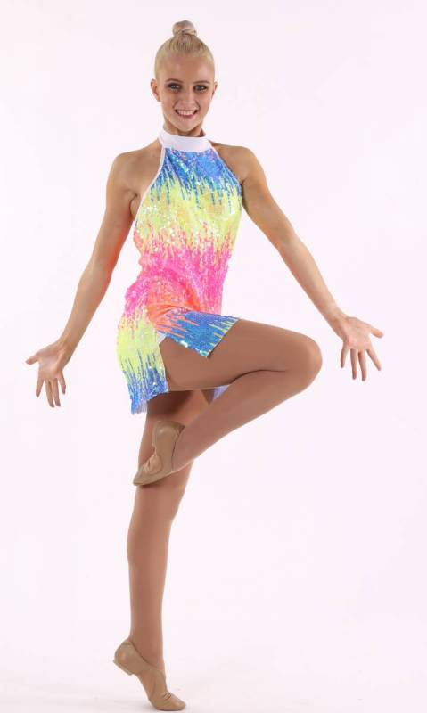 FRUITY POP  - Neon Pop with fluro pink spandex
