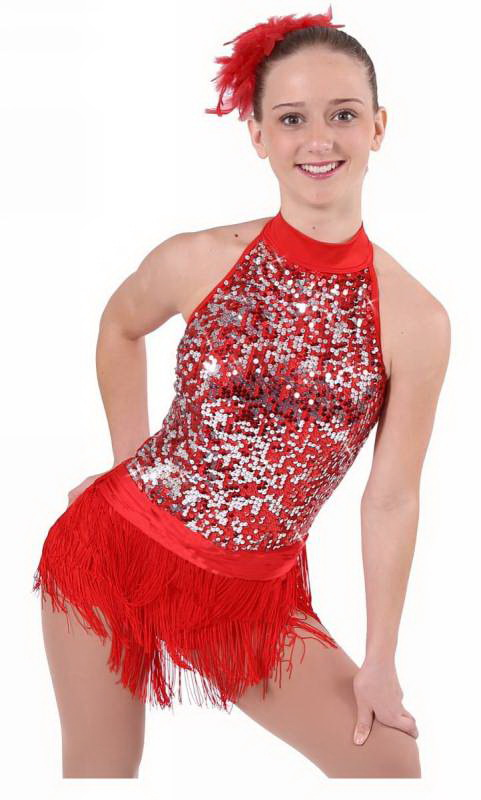 PROUD MARY  - Red with red and silver sequin