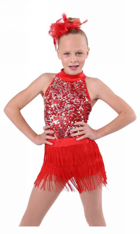PROUD MARY  - red with red and silver sequins 190046