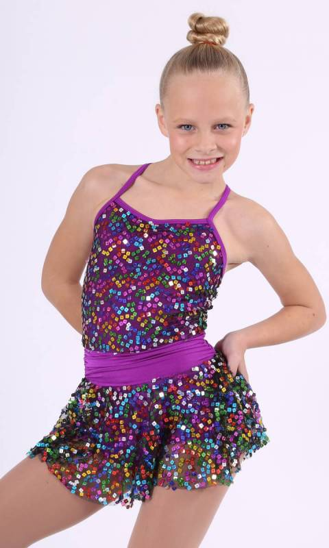 LETS GET LOUD  - Sequin and lycra dress with matching headband