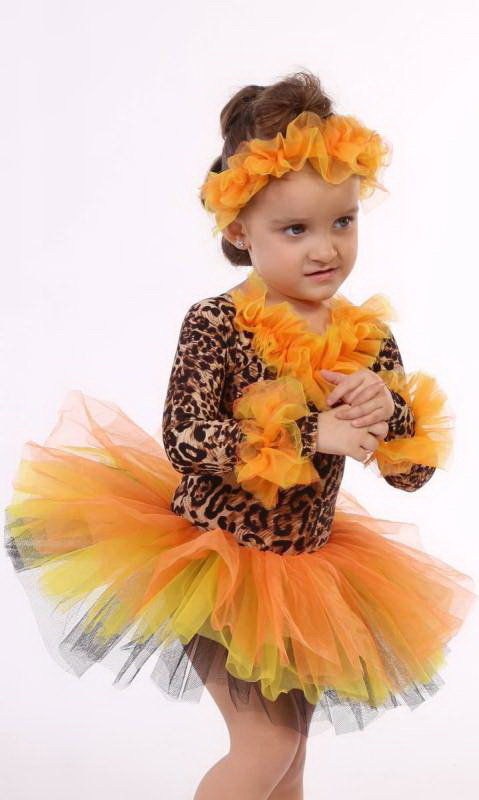 SIMBA with headband - Brown Orange and yellow