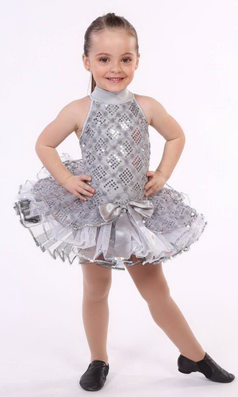 SPARKLE TUTU  - Grey, White and black with silver sequin