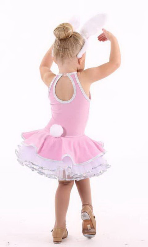 BUNNY HOP KCDC includes ears and tail - Pink  white and silver
