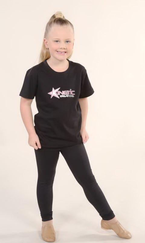 HYBRID T SHIRT - K32 - Black with Kinetic Logo
