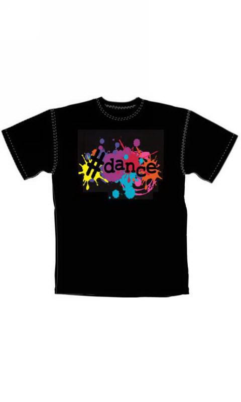 BLACK WITH #DANCE on Paint Splatter