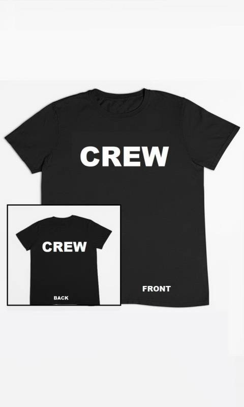 Black with CREW on Front and Back