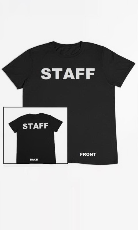 Black with STAFF on Front and Back