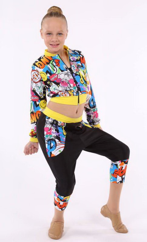 BAM POW ZIP JACKET  - Bam Pow and yellow