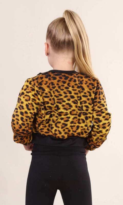 ZIP JACKET - SPANDEX PRINTS - Leopard Print
