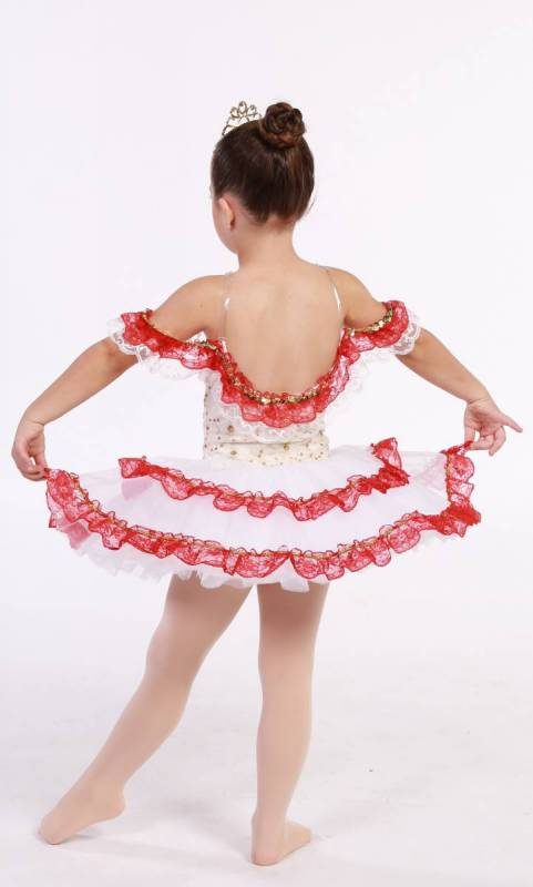 CATALINA - BUDGET TUTU - Cream and red