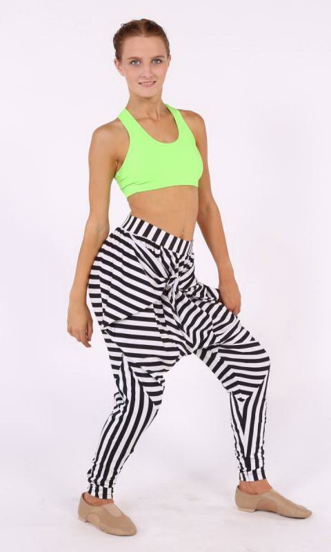 Zebra Pants - Convertible Dance Costume
