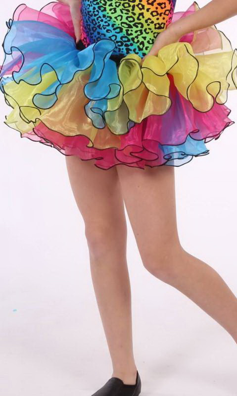 PARTY ANIMAL SKIRT  - Yellow, Fuschia and Aqua  shortard purchased separately