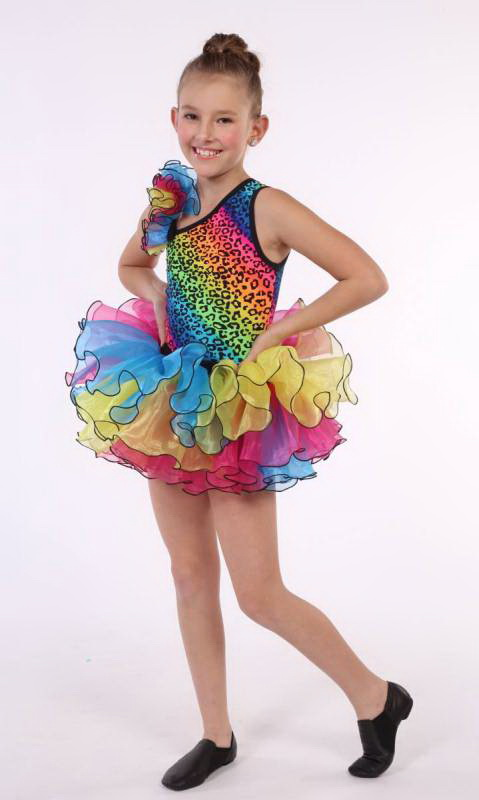 PARTY ANIMAL 2 IN ONE - Neon Bright leopard and multi organza