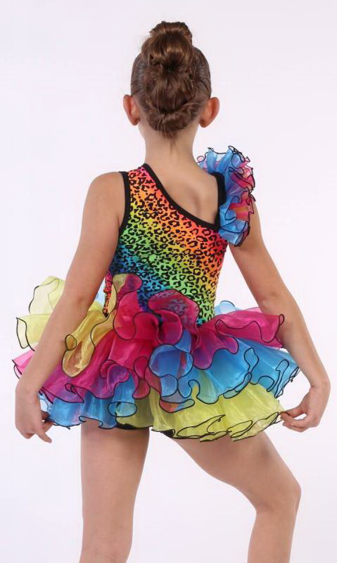 Neon Bright leopard and multi organza