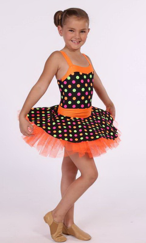 DOTS AND SPOTS - Orange with multi spots on black