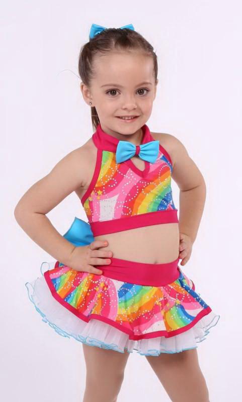 CATCH A RAINBOW + hair bow Dance Costume