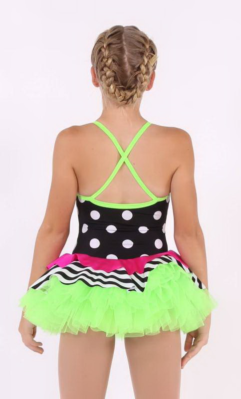 SPOTS AND STRIPES  - Black/white  Green and Pink