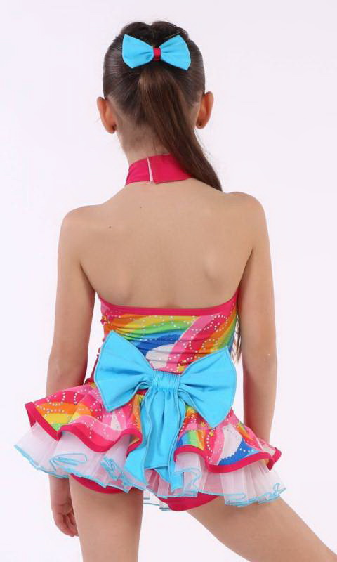 RAINBOW CONNECTION - Rainbow Print + Pink Nylon + Aqua Nylon + White Tulle