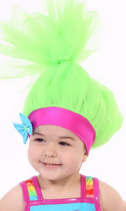 TROLL HAT/WIG - Green