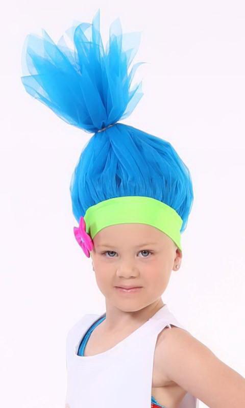 TROLL HAT/WIG - Blue