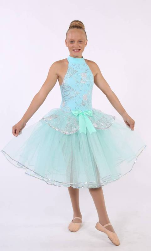 DAINTY BALLERINA  - Mint green and silver