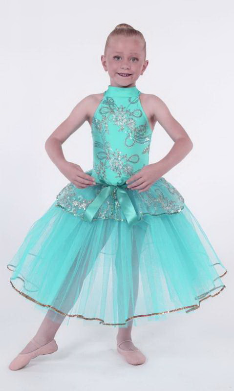 DAINTY BALLET - Mint green and silver