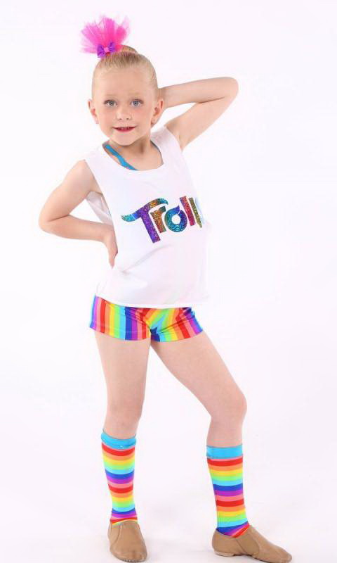 CREW PUNK TRO TOP - White  with troll print