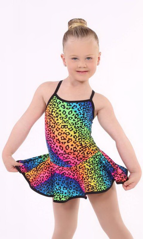 SKATER DRESS - spandex prints Dance Costume