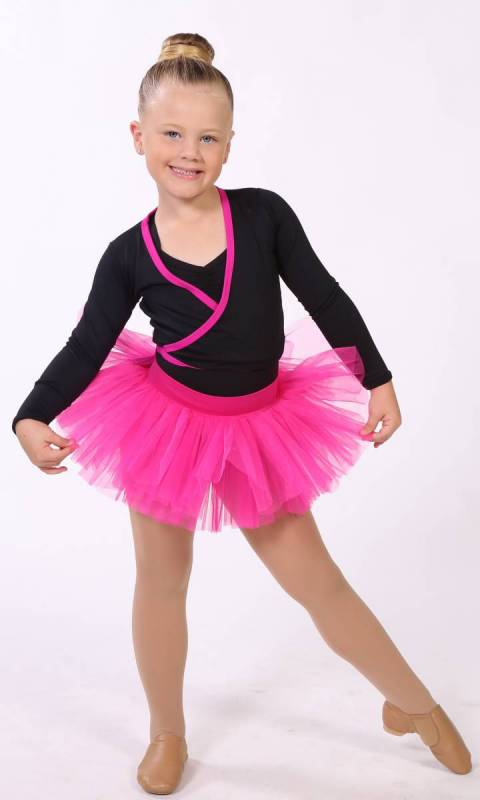 BABY TUTU SKIRT  - PINK 3190 (Beetroot) pictured with crossover top