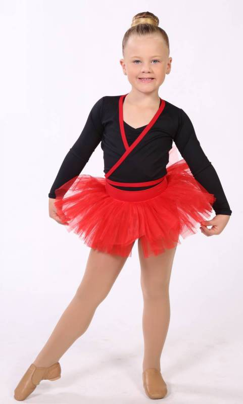 BABY TUTU SKIRT  - Scarlet 0314 (Red) pictured with Crossover top