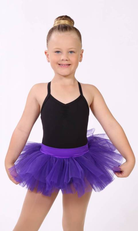 BABY TUTU SKIRT  - BRIGHT VOILET 1015 (Congo) pictured with Maddison Leotard