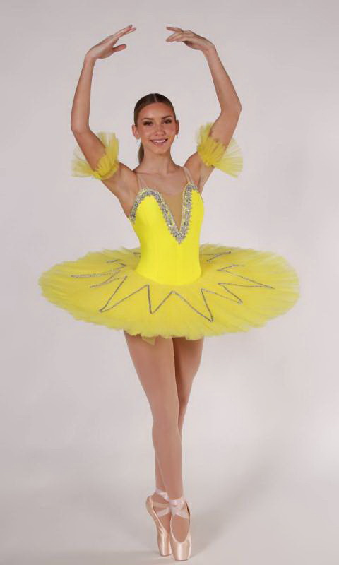 STAR TUTU - Yellow and Silver