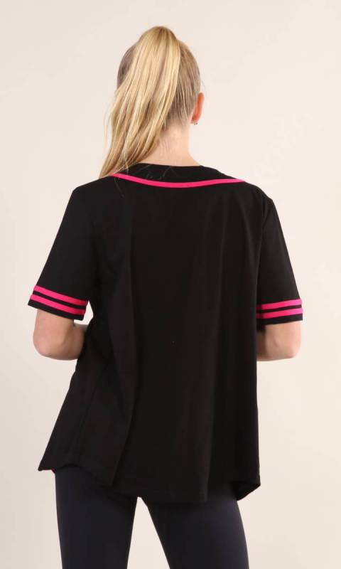 BASEBALL TOP  - Black + PINK 1949 130 xiang