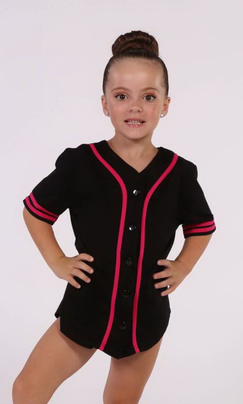 BASEBALL TOP  - BLACK + PINK