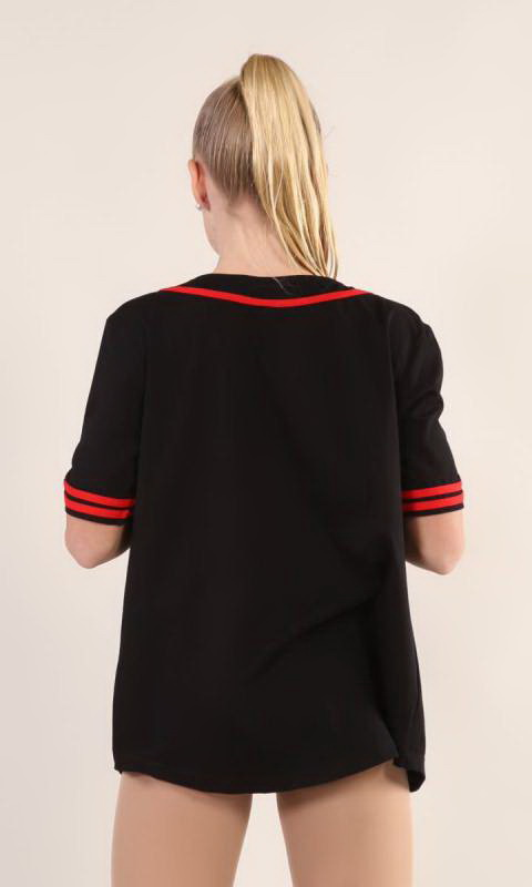 BASEBALL TOP  - Black + RED 1949 15 xiang
