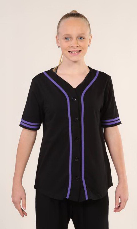 Black + PURPLE - 23 (cotton lycra 165gsm)