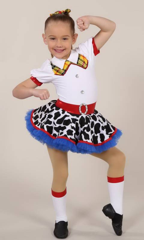 JESSIE +  hair bow and socks Dance Costume
