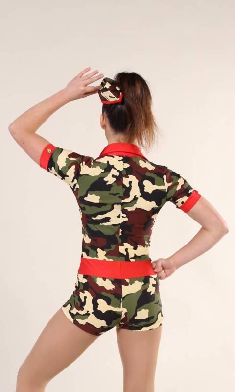 RUN THE WORLD + hat - Camo Print + Red Nylon