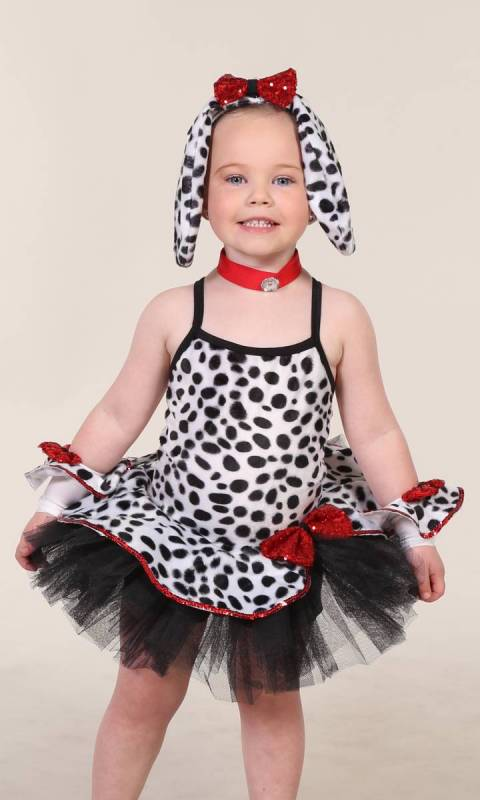 DALMATION +Gloves and Ears - Dalmation Print + Black + White